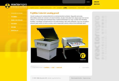 a Reactor Kft. új honlapja