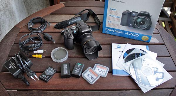 Eladó fényképezőgép: KonicaMinoltaDiMAGEA200