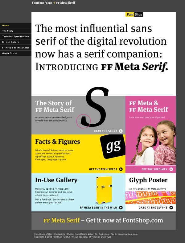 FF Meta Serif weblap