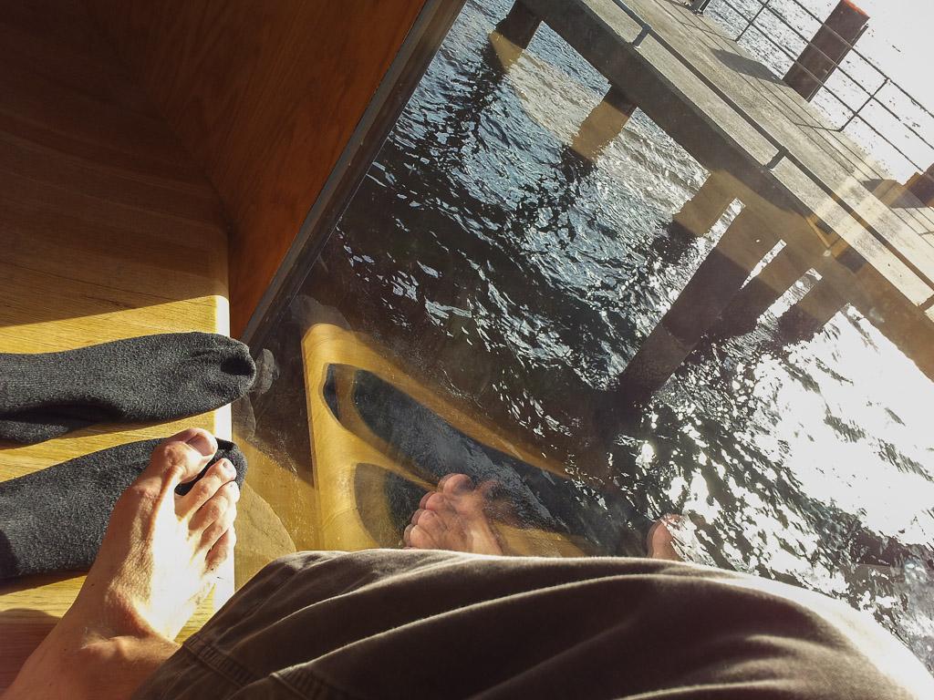 Napsugaras lábfürdő – nagyon jól esett
